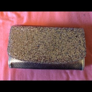 Sequin Gold Wallet
